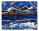 Olympic Mountains Giclee Print by Leone Ardo