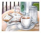 New Orleans Cafe Du Monde Giclee Print by Elaine Hodges