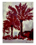 Palm Trees Acrylic Painting On Canvas Giclee Print by Derek Mccrea