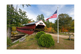 Covered Bridge Over The Swift River, Nh Photographic Print by George Oze