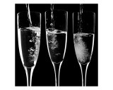 Champagne in Mono Photographic Print by Alex Bramwell