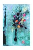 Aqua Fantasy Floral Giclee Print by Ruth Palmer