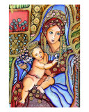 Virgin Mary And Baby Jesus Giclee Print by Patricia Vidour