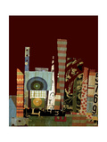 City Scapes Collage Giclee Print by Ricki Mountain