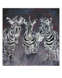 Zebra Painting Print Giclee Print by Derek Mccrea