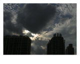 Miami Beach Highrise Silhouette Photographic Print by Clarence Carvell