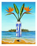 Birds Of Paradise Over Fiji Giclee Print by Jerome Stumphauzer