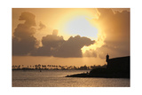 Scenic Sunset In San Juan Bay, Puerto Rico Photographic Print by George Oze