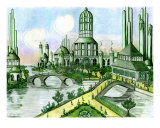 Emerald City Giclee Print by Derek Mckindles