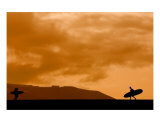 Surfers at Sunset Photographic Print by Alex Bramwell