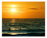 Sunset Surfing Photographic Print by Monica Bryant