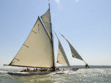 Mariquita under Sail, Solent Race, British Classic Yacht Club Regatta, Cowes Classic Week, 2008 Fotografisk trykk av Rick Tomlinson