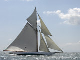 Mariquita under Sail, Solent Race, British Classic Yacht Club Regatta, Cowes Classic Week, 2008 Photographic Print by Rick Tomlinson