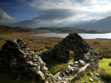 Ruins of Shephed's Hut at Llyn Y Dywarchen, Gwynedd, North Wales, UK Photographic Print by Ross Hoddinott