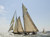 Mariette under Sail, Solent Race, British Classic Yacht Club Regatta, Cowes Classic Week, 2008 Photographic Print by Rick Tomlinson