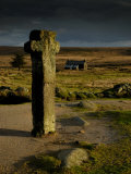 Nun's Cross, with Nun's Cross Farm Behind, Stormy Sky, Dartmoor Np, Devon, UK Print by Ross Hoddinott
