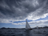 "California 32 Marconi Sloop ""Cholita"" Sailing at Panerai Classics, Sardinia, September 2007 Photographic Print by Richard Langdon"