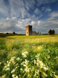 Knowlton Church, Dorset, UK, with Cloudy Sky, Summer 2007 Photo by Ross Hoddinott
