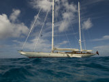 "Sy ""Adele"", 180 Foot Hoek Design, Anchored Off the Coast of St Barts Photographic Print by Rick Tomlinson"