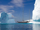 "Sy ""Adele"", 180 Foot Hoek Design, Motoring Past Icebergs in Wilhelmina Bay, Antarctica, 2007 Photographic Print by Rick Tomlinson"