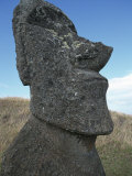 Ancient Stone Statue, Easter Island, Pacific Ocean 1999 Photo by George Chan