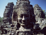 Bayon Temple, Angkor, Cambodia Photographic Print by George Chan