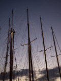 Masts and Rigging at Dusk. Panerai Classics, Sardinia, September 2007 Photographic Print by Richard Langdon