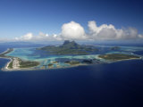 Volcanic Island in French Polynesia Photographic Print by Rick Tomlinson
