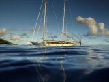 "Sy ""Adele"", 180 Foot Hoek Design, Anchored Off the Coast in French Polynesia, 2006 Photographic Print by Rick Tomlinson"