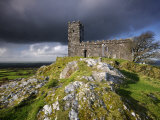 Brentor Church with Storm Clouds Behind, Evening View, Dartmoor Np, Devon, Uk. October 2008 Posters by Ross Hoddinott