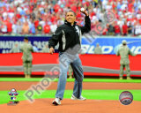 President Barack Obama throws out the first pitch 2009 MLB All-Star Game Photo