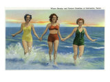 Galveston, Texas - Where Beauty and Nature Combine, Ladies at the Beach, c.1947 Prints