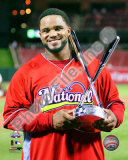 Prince Fielder with 2009 Home Run Derby Trophy Photo