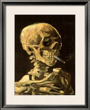 Skull with Burning Cigarette Print by Vincent van Gogh