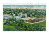 San Antonio, Texas - Breckenridge Park, Aerial View of the Open Air Theatre, c.1944 Print