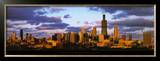 Chicago Skyline at Sunset Posters by Mark Segal