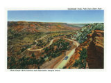 Palo Duro Canyon State Park, Texas - Aerial View of the Goodnight Trail, c.1941 Print by  Lantern Press
