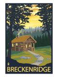 Breckenridge, Colorado - Cabin in Woods, c.2008 Prints by  Lantern Press