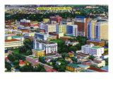 Wichita Falls, Texas - Aerial View of the City, c.1952 Prints by  Lantern Press