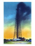 Texas - View of an Oil Well That Has Struck Oil, c.1952 Art