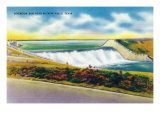 Texas - View of Diversion Dam Near Wichita Falls, c.1952 Poster by  Lantern Press