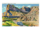Texas - View of El Capitan, Signature Peak in West Texas, c.1945 Prints by  Lantern Press