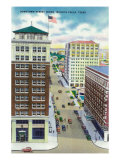 Wichita Falls, Texas - Aerial View of a Downtown Street, c.1952 Posters by  Lantern Press