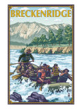 Breckenridge, Colorado - River Rafting, c.2008 Print by  Lantern Press