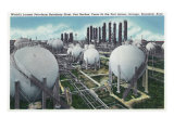 Beaumont, Texas - General View of the World's Largest Petroleum Butadiene Plant, c.1948 Prints by  Lantern Press