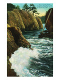 Whidbey Island, Wa - Deception Pass State Park View of Beacon Light Point on Puget Sound, c.1928 Posters by  Lantern Press
