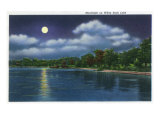 Dallas, Texas - Moonlight Scene on White Rock Lake, c.1941 Art