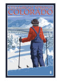 Skier Admiring - Steamboat Springs, Colorado, c.2008 Prints by  Lantern Press