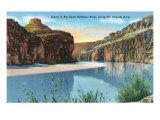Big Bend Nat'l Park, Texas - Scenic View Along the Rio Grande River, c.1942 Prints
