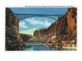 Grand Canyon Nat'l Park, Arizona - View of the Grand Canyon Navajo Bridge at Lee's Ferry, c.1938 Poster by  Lantern Press